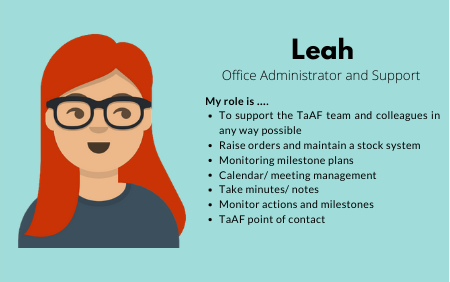 Leah, Office Administrator and Support