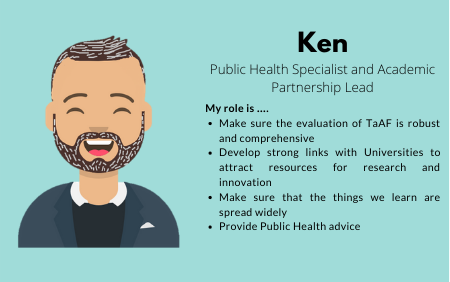 Ken, Public Health Specialist and Academic Partnership Lead